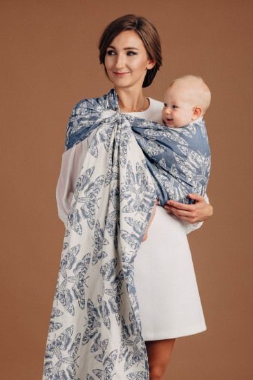 Sling, jacquard (53% Coton, 33% Lin, 14% Soie tussah) QUEEN OF THE NIGHT